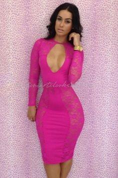 72c8a50ec0c 2014 new hot sale Spring summer women dress Classic Black pink Lace Spliced Midi  Bodycon Dress