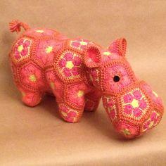 Custom handmade Happypotmus the Happy Hippo by Lineandloops $44.67