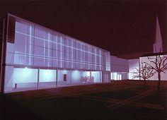 Gunda Foerster, FASSADE (Schaufenster), Neubau Museum für Zeitgenoessische Kunst, Hagen   Entwurf, 2001 – mit Caroline Raspé