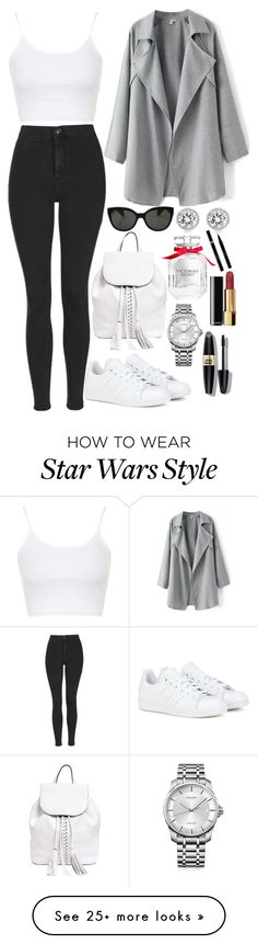 """""""Spinnin' out"""" by lovelydgessy on Polyvore featuring Topshop, adidas, Rebecca Minkoff, Oliver Peoples, Calvin Klein, Michael Kors, Victoria's Secret, Max Factor, Chanel and Sisley"""