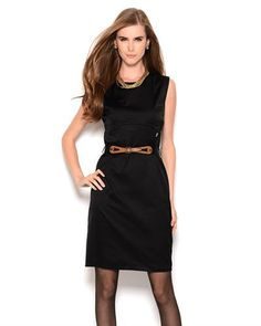 Galliano Belted Cotton Sheath Dress - Made in Europe
