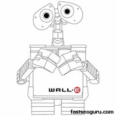 printable disney wall e coloring pagesgif 400400 pixels