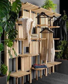Artem Zakharchenko Has Designed A Versatile Wood Shelving System Artem Zakharchenko has designed the 'Gate' furniture system that consists of a modern wood shelving unit that can be used as a wardrobe, living room furniture, kitchen storage, and more. Smart Furniture, Modular Furniture, Classic Furniture, Rustic Furniture, Furniture Makeover, Living Room Furniture, Modern Furniture, Furniture Design, Gate Furniture