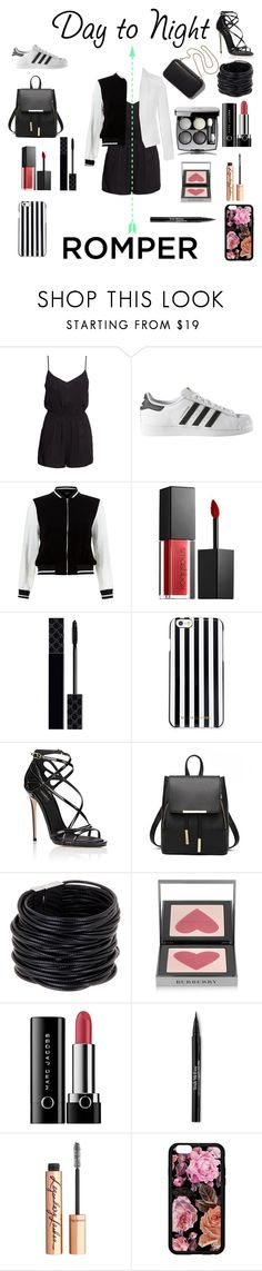 """Day to night romper"" by j-jingles ❤ liked on Polyvore featuring H&M, adidas, New Look, Clare V., Smashbox, Gucci, MICHAEL Michael Kors, Dolce&Gabbana, Saachi and Burberry"