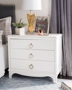 Safavieh Home Collection Hannon 3 Drawer Contemporary Nightstand End Table, Grey/Brass Bedroom Furniture Stores, Furniture Deals, Living Room Furniture, Bedroom Decor, Furniture Outlet, Online Furniture, Design Bedroom, Discount Furniture, Furniture Makeover