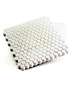 Loving this White Hexagon Coaster - Set of Four on #zulily! #zulilyfinds