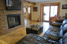 Eagle's Nest Retreat - All Season Cottage Rentals - Sir Sam's Ski & Bike Propane Fireplace, Eagle Lake, Eagle Nest, Radiant Floor, Highlands, Eagles, Decor Ideas, Cottage, Cabin