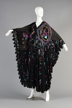 Just amazing! | Superb 1980s Sequin + Bead Encrusted Caftan Dress | BUSTOWN MODERN