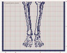 This is interesting . a life size filet skeleton! I was poking around the picasaweb albums website and I saw this by Cee Add in one of . Filet Crochet, Crochet Cross, Cross Stitching, Cross Stitch Embroidery, Cross Stitch Designs, Cross Stitch Patterns, Beading Patterns, Crochet Patterns, Kawaii Cross Stitch