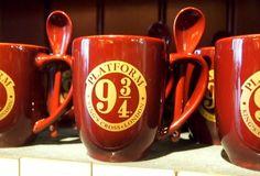 Platform 9 and three quarters Harry Potter mug. Harry Potter Experiences Around the World.