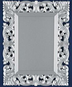 CNC 3D model in STL format ArtCAM (125 frame mirror)