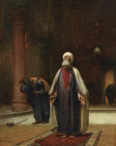 View THE PRAYER by Frederick Arthur Bridgman on artnet. Browse upcoming and past auction lots by Frederick Arthur Bridgman. Middle Eastern Art, The Elder Scrolls, Arabian Art, Islamic Paintings, Art Paintings, Pics Art, Historical Art, Chiaroscuro, Classical Art