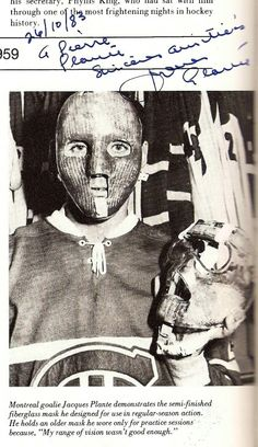 Jacques Plante ( informational link under construction. )