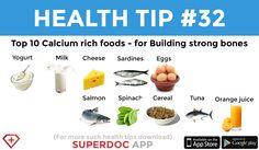 """""""Top 10 Calcium rich foods"""""""