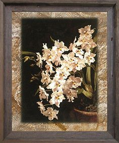 """Every Flowers blooms in its own time"""" Look Beautiful! There's no better way to enhance the look of your home than this beautiful white orchid of colorful flowers Barnwood Framed picture art print poster. This wall poster makes a lively display of charming flowers in your room. You will love this poster as a part of your home. This beautiful wall art will make you feel like that this is the best fit wall décor for your place."""