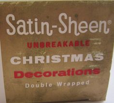 Vintage 1980's Red Satin-Sheen Ornaments. by NowAndThenConnection