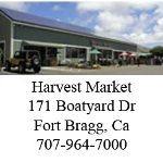Best grocery store - Harvest Market.  The one in Ft. Bragg is larger and has a better selection, but there is also a smaller one in downtown Mendocino