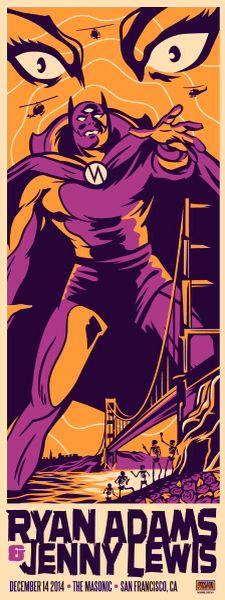 Ryan Adams - Dec 14, 2014 - The Masonic SF - Artist: Ivan Minsloff