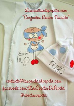 Las cositas de Pepita: Pijamas para Bebes pintados a mano