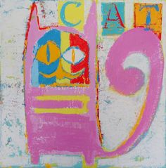 "Saatchi Art Artist Andy Shaw; Painting, ""Pablo Picasso The Cat"" #art"