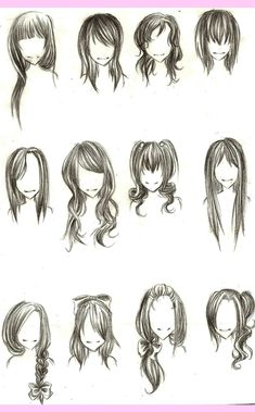 drawing hairstyles from behind - Google Search