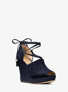 Hastings Lace-Up Suede Wedge by Michael Kors