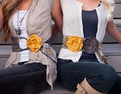 So cute DIY belts. Love.