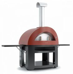 Alfa Pizza Forno Allegro in. Outdoor Wood Burning Oven with Cart in Yellow-Forno Allegro with Cart in Yellow - The Home Depot Wood Burning Oven, Wood Fired Oven, Wood Fired Pizza, Ceramic Fiber, Glass Ceramic, Best Outdoor Pizza Oven, Outdoor Cooking Area, Outdoor Kitchens, Outdoor Spaces