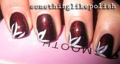 http://talesofnailpolish.blogspot.co.uk/ nail art, flowers, max factor - fantasy fire