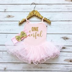 ONE derful Sparkle Tutu Dress | Pink - Dress - Cassidy's Closet
