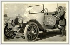 1915 Amanda Preuss, who drove coast to coast over the Lincoln Highway in 1916, setting a record.  1915 - Oldsmobile - Model 43, 4 cylinders