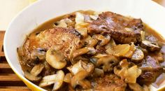 Pork Chop Recipes: An Easy Pork Chop Recipe With Mushrooms And Marsala Sauce Pork Recipes With Sauce, Recipes With Oyster Sauce, Easy Pork Chop Recipes, Easy Recipes, Mushroom Marsala Sauce Recipe, Mushroom Recipes, Gourmet Recipes, Cooking Recipes, Dessert Recipes