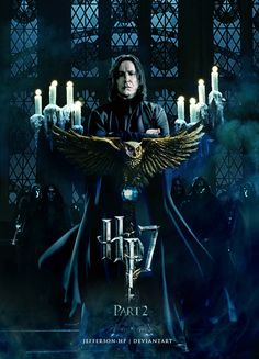 Severus Snape - Harry Potter and the Deathly Hallows Part 2 Estilo Harry Potter, Mundo Harry Potter, Harry Potter Love, Harry Potter Universal, Harry Potter World, Hogwarts, Slytherin, Harry Potter Poster, Magia Harry Potter
