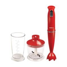 HAVELLS SUPER BLEND WITH CHOPPER RED - • Powerful 400W DC motor• Slim ergonomic design handle• Two speed levels for faster blending/chopping• 600ml breaker ideal for blending smoothies & liquids• Multi-purpose hygienic blade for blending & pureeing• 500ml chopper perfect for chopping herbs, nuts & vegetables.