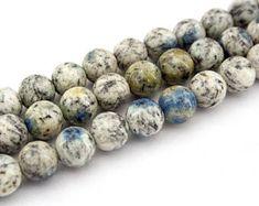 Rare K2 Blue 8-8.5mm Round beads (ETB01173)