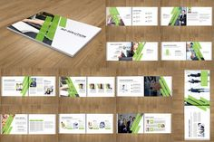 Corporate Landscape #Brochure #Template.Layered Indesign Template.Easy to edit font,text,color,image and more.