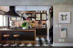 PRSPI – Paola Ribeiro Loft, Small Places, Kitchen Decor, Kitchen Ideas, Sweet Home, Interior Design, Table, Inspiration, Furniture