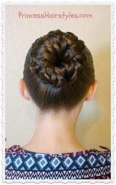 Princess Hairstyles Pinwheel Bun Shortcut From Princess Hairstyles  Sock Buns