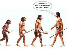 de-evolution | En hysteriskt rolig illustration :)
