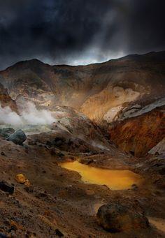 Mutnovsky Volcano in Kamchatka, Russia