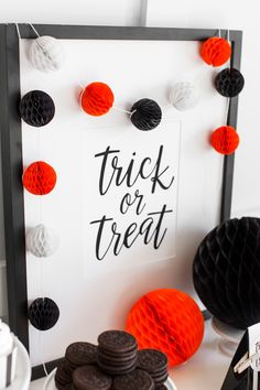 Printable Trick or Treat Sign