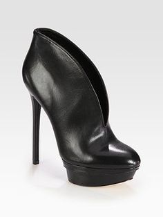 B Brian Atwood - Fortosa Leather Platform Ankle Boots - Saks.com