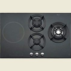 Combination Gas & Induction Hob by Whirlpool (AKT477IX). Available in the UK.