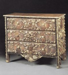 shell work chest of drawers....words fail me...
