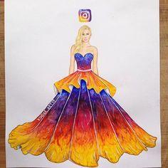 The new Insta Queen! Dress inspired by Instagram logo by Edgar Artis