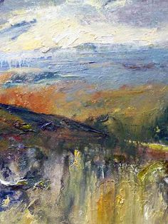 Art Card 014 - The Obscurity of Rainy Days – Landscape Expressionism Abstract Landscape Painting, Landscape Paintings, Landscapes, Watercolor Paintings For Sale, Rainy Days, Expressionism, Giclee Print, Original Artwork, Prints