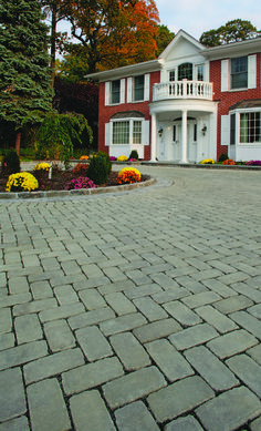 Permeable pavers by Cambridge Pavingstones with ArmorTec are a stormwater management system designed to trap pollutants and reduce impervious areas. They are laid out in a variety of patterns with gravel between them. This system has been approved by the Federal EPA as a post-structural BMP (Best Management Practices) for compliance with NPDES Phase II rule.