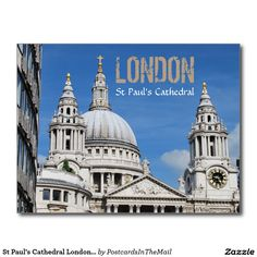 St Paul's Cathedral London England Postcard