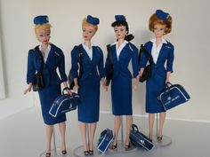 Vintage Barbie in American Airlines outfit Barbie Y Ken, Barbie Skipper, Barbie Life, Barbie Dream, Barbie World, Girl Barbie, Vintage Barbie Clothes, Vintage Dolls, Doll Clothes