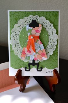 Orange Floral Merci Dress Card